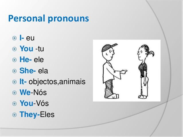 Pronomes Pessoais em Inglês